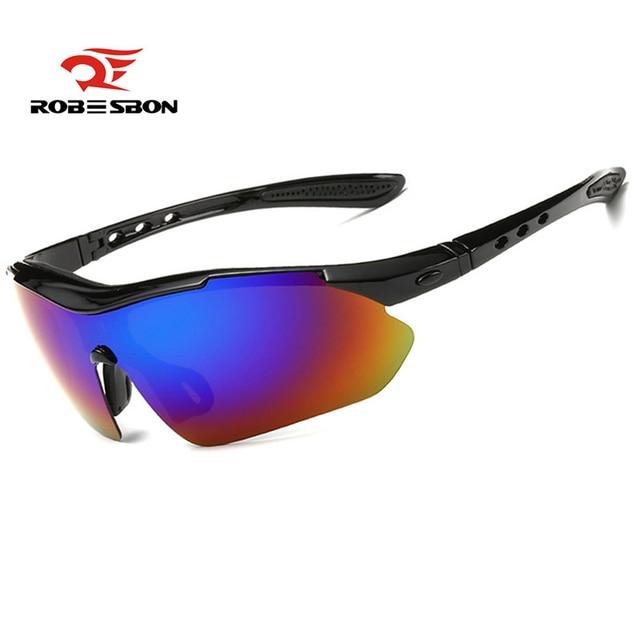ROBESBON Polarized Cycling Eyewear Colorful Outdoor Sports Bike Sunglasses TR90 Goggles Running Windproof Eyewear Accessory