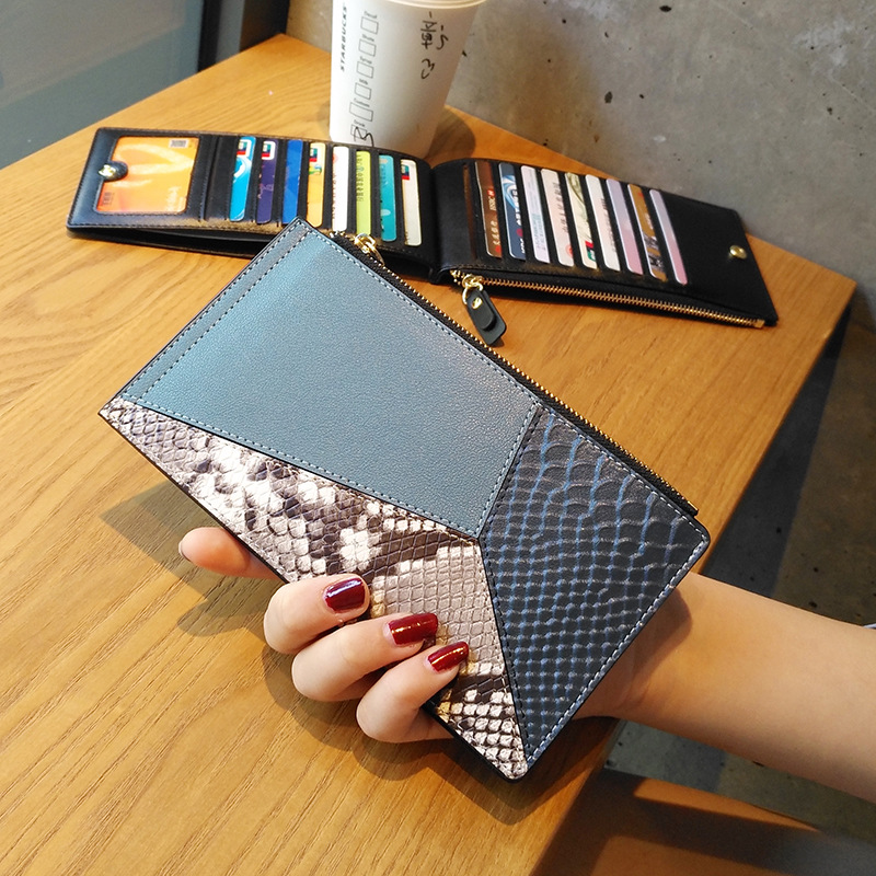 Women Credit Card Holder Genuine Leather ID Card Case Bank Wallet Large Capacity Clutch Phone Bag Lady Cowskin Thin Simple Purse