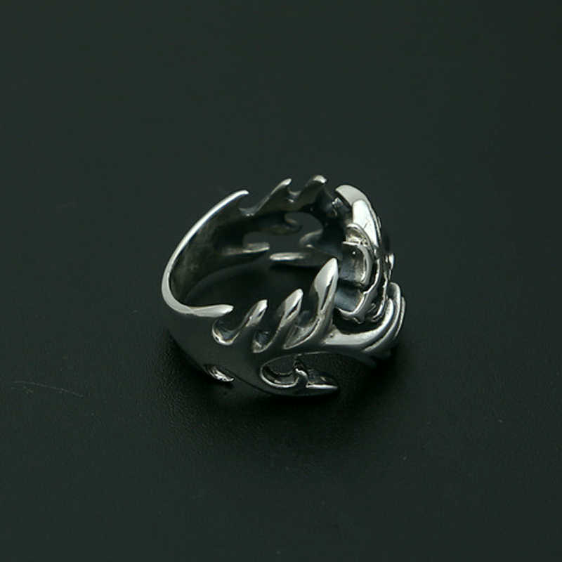 S925 sterling silver mens ring personality retro fashion jewelry dragon shape opening ring to send a couple of gifts 2018 new
