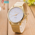 Creative FashioWatch Women Ladies Crystal Gold Plated Mesh Band Wrist Watch Quartz watch Bracelet Watches relogio feminino