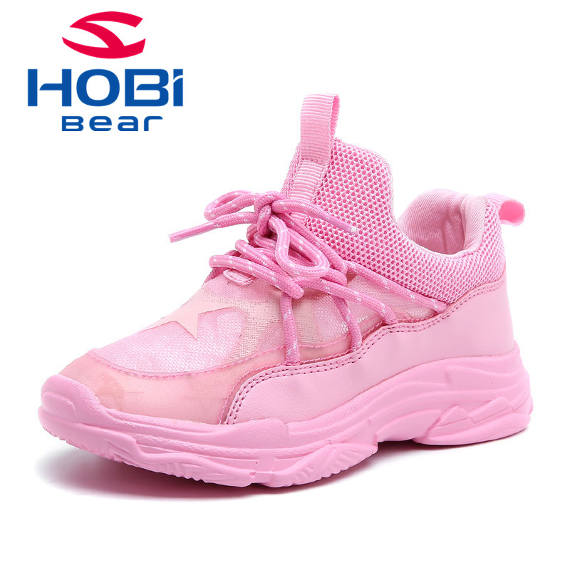 Kids Sport Shoes for Children boy Girls Sneakers Shoes Summer Fashion Breathable Mesh Tennis Training Footwear Hobibear AU3606