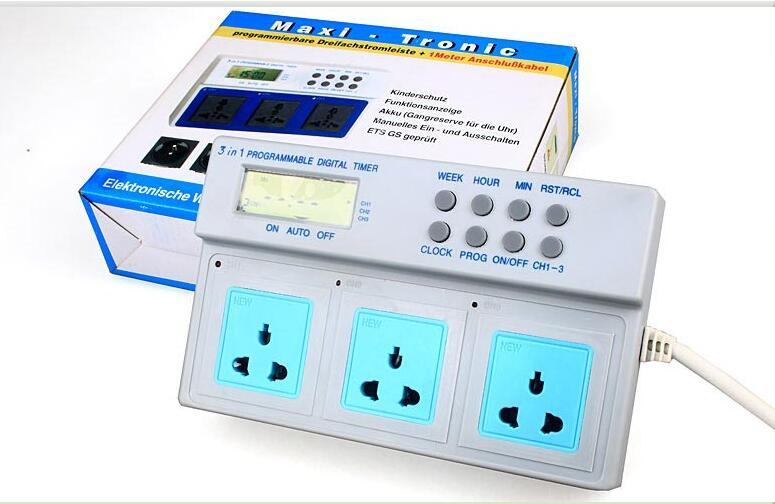 1PCS 3680W Timer for Aquarium Wave Maker Lights Programmable 220V/16A plug base