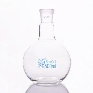 Image 2 - תקן אחד תחתית שטוחות פה בקבוק, 500 ml קיבולת ומשותף 24/29, צוואר יחיד בקבוק שטוח, רתיחה צפחת