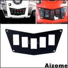 Aluminum UTV Switch Plate Panel For Polaris RZR 900 XP 2011 2014 RZR 800 RZR 570 Black Dash Switch Plate Panel
