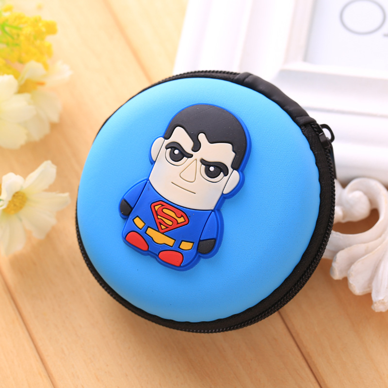 Kawaii Candy Superma Wallet Silicone Small Pouch Cute Coin Purse Key Rubber Wallets Gift Children Mini Anime Case Storage Bags