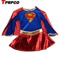 Child Supergirl Sexy Girl Super Hero Costume Cosplay Party For Super Girl Costume CO59