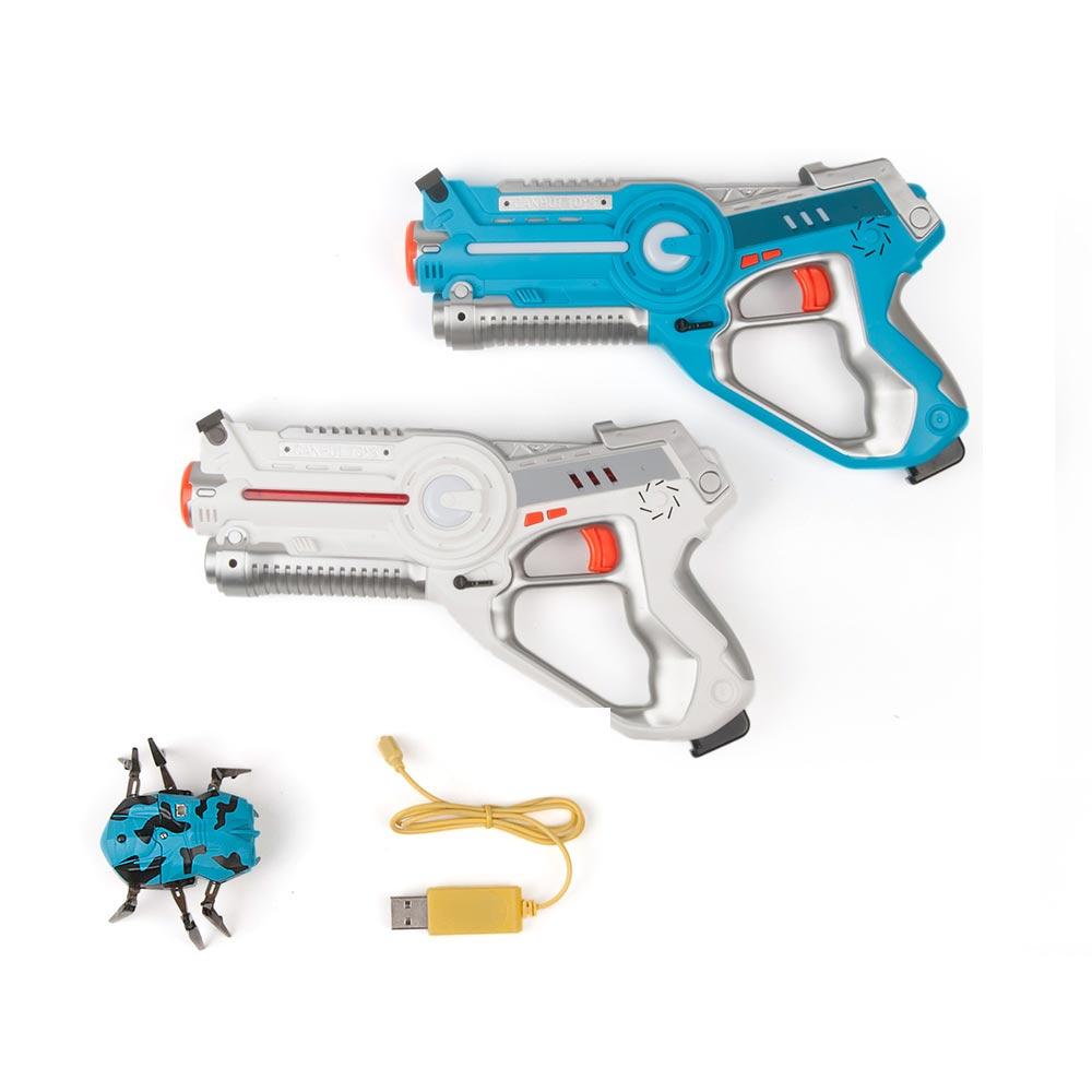 2 pièces Laser infrarouge Tag Blaster Laser Bataille Pack avec Mécanique Vers Intérieur et Extérieur Activité Familiale pour Enfants et Adultes