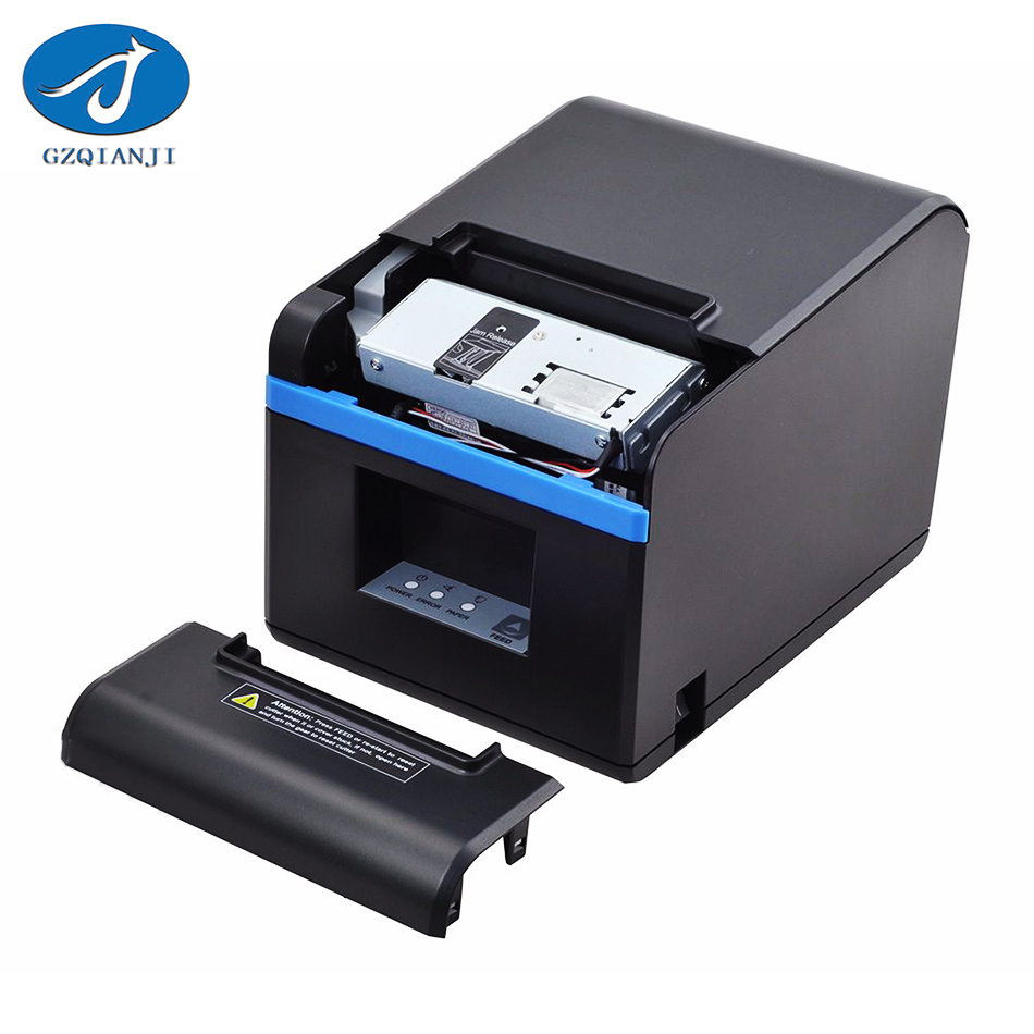 80mm Thermal Printer Automatic Cutter Receipt Printer Small Ticket Barcode Bill Receipt POS Printer with USB or Ethernet Port quality pos 58mm thermal receipt printer usb port with auto cutter small ticket printer high speed printing for supermarket