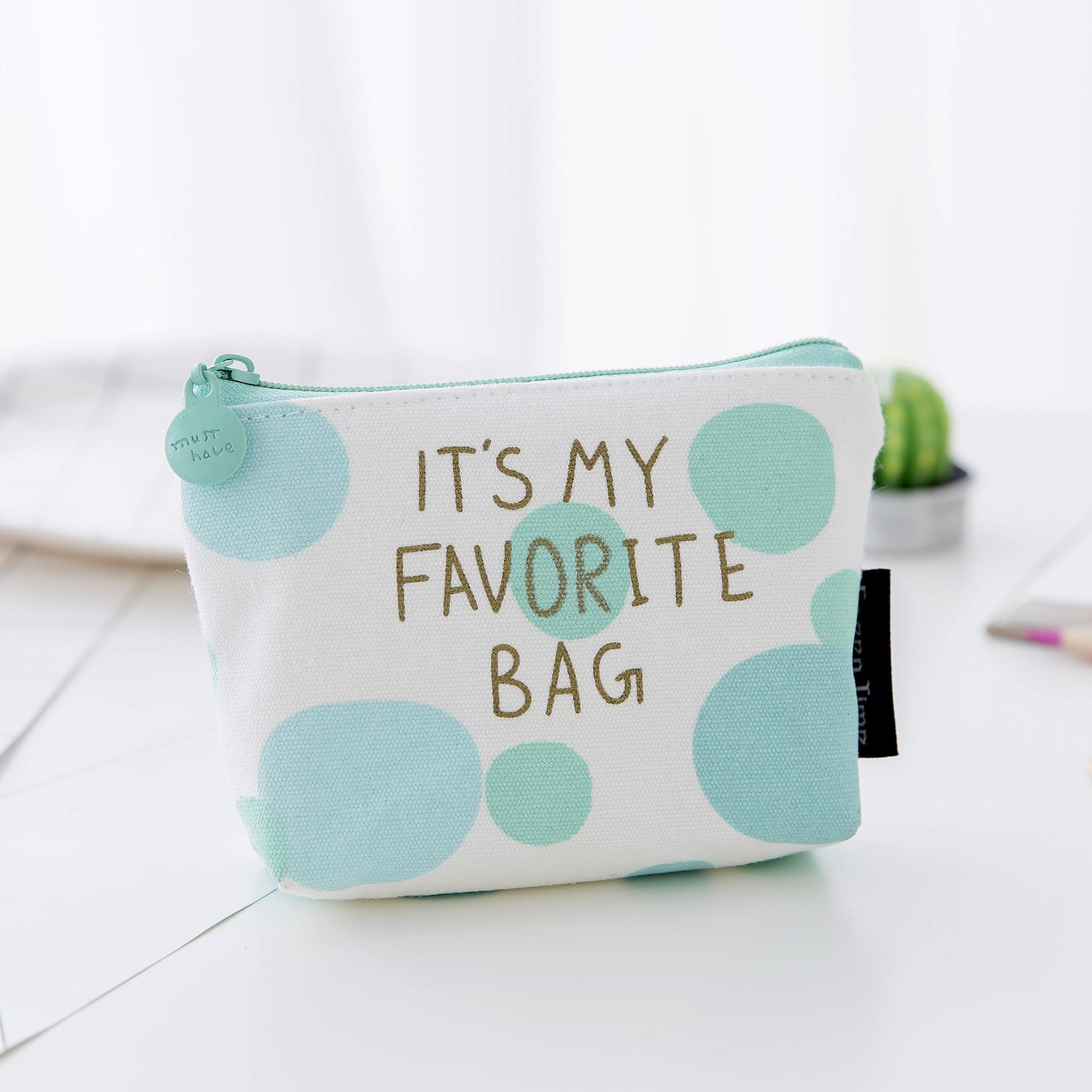 Pouch Little Money Bag Girls Mini Coin Wallet Unisex Ladies Cheapest Canvas Small Zip Change Coin Purse Key Car B