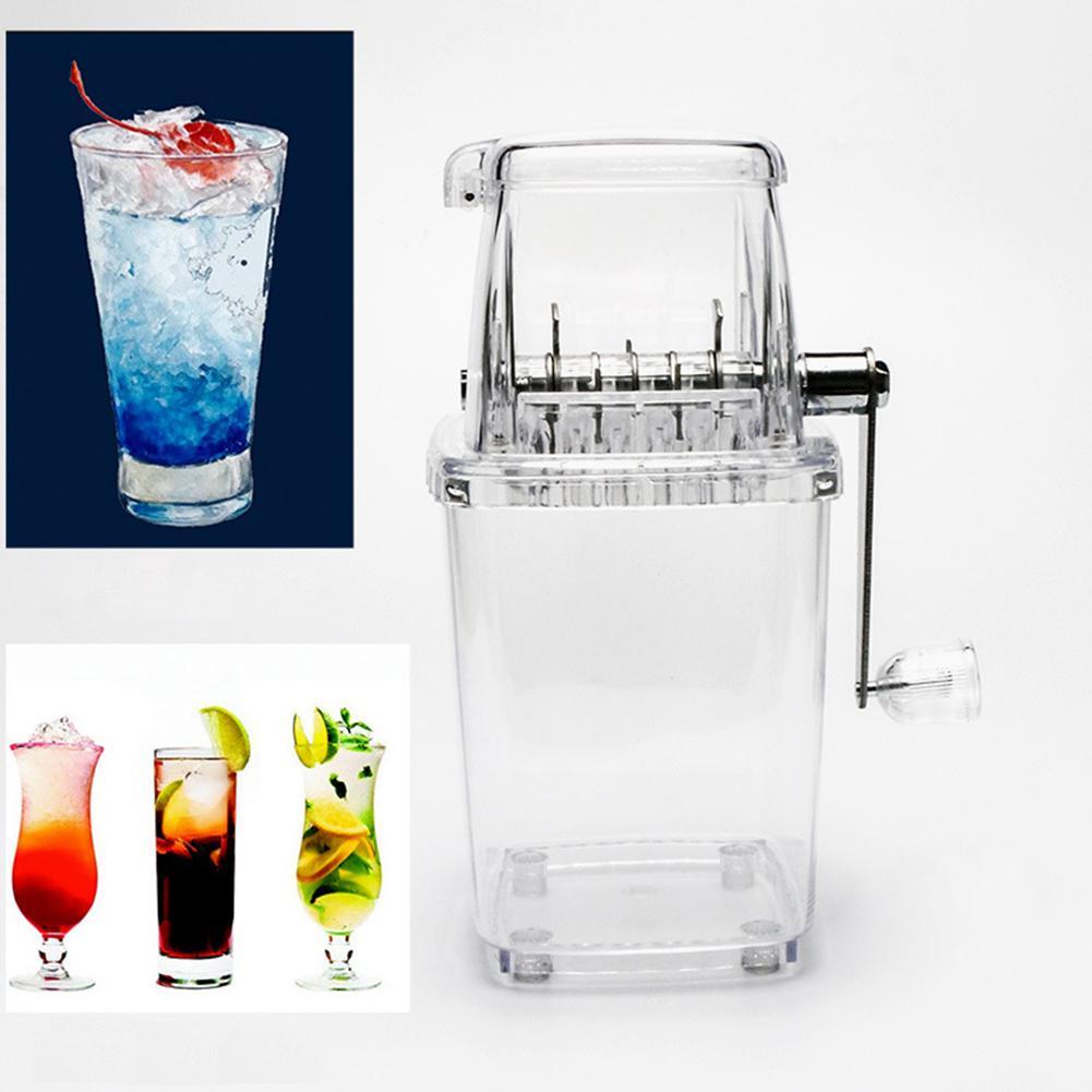 Adoolla Multifuncional Manual de Mini Transparente Casa Triturador de Gelo Barbeador Cozinha Ferramenta