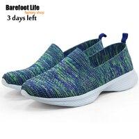 נשים חדשות פועלות מאמני נעלי ספורט פעילות חיצונית ספורט ניילון ירוק Footwears Sneaker מאמני Zapatos Size35-45