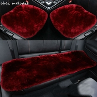 2cm thickness Universal front+back seat Natural GREEN DYE Australina pure sheepskin fur car seat cushion cover