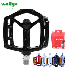 цена на Free shipping Wellgo MG-3 Pedal Mountain Bike colored magnesium alloy ultra-light bearing   bicycle Pedal