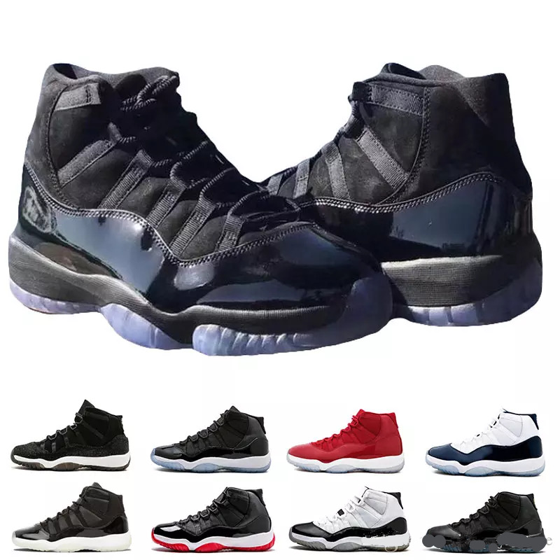 New AJ 11 Prom Night Cap and Gown Gym Red Space Jam Win like 96 11s Men Basketball Shoes Athletic Sports Sneakers size 5.5-13 besshof aj py6 1 red