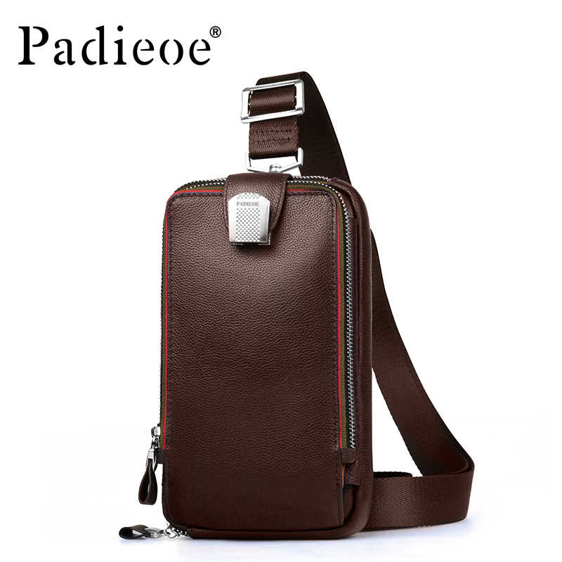 8d5bf5b69e87 ... PADIEOE сумка мужская кожаная мужские сумки через плечо натуральная кожа  рюкзак сумка мужчин высокого качества pack
