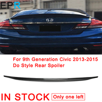 For 9th Generation Civic 2013 2015 Do Style Carbon Fiber Rear Spoiler For Honda Glossy Fibre Wing Accessories