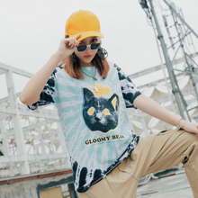 Gloomy Bear Paisley Tie Dyeing Tshirts Women Short Sleeve 2019 Summer O-neck Casual Tee Shirts Streetwear