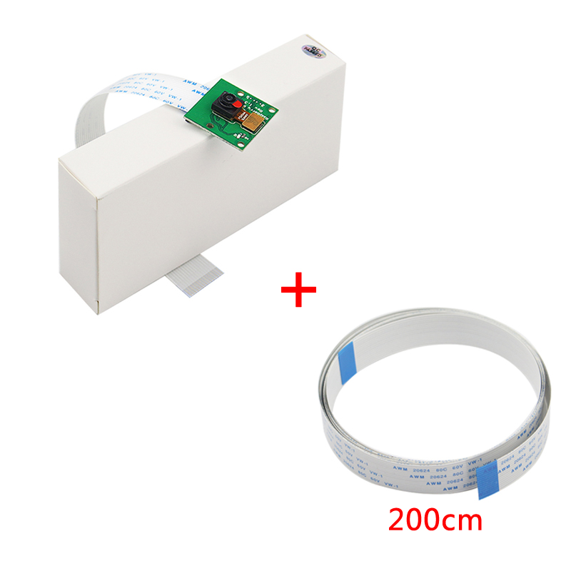 Raspberry Pi 4 Camera Module 5MP Webcam 1080P 720P Mini Camera with  30/50/100/200CM FFC Cable for Raspberry Pi 3 Model B 3B Plus