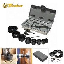 цена на 11pcs Drill Bits Hole Saw Cutting Set Cutter Hole Saw Wood Metal Cutter Opener Circular Round Case 19-127mm DIY Tools