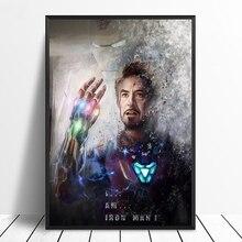 Железный человек Мстители Endgame Thanos Infinity Gauntlet фильм плакат домашний Декор настенный Декор стены Искусство Cnavas печать(без рамки