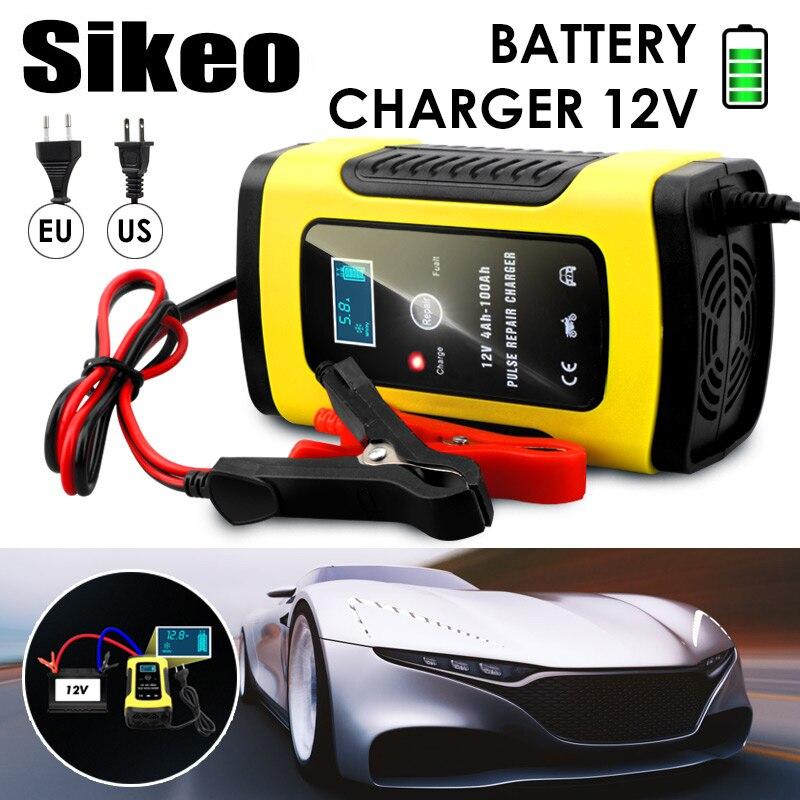 Totalmente Automático Carregador de Bateria de Carro 110V Para 220V Para 12V 6A LCD Inteligente Rápido para Auto Moto carregamento De Baterias de chumbo-Ácido