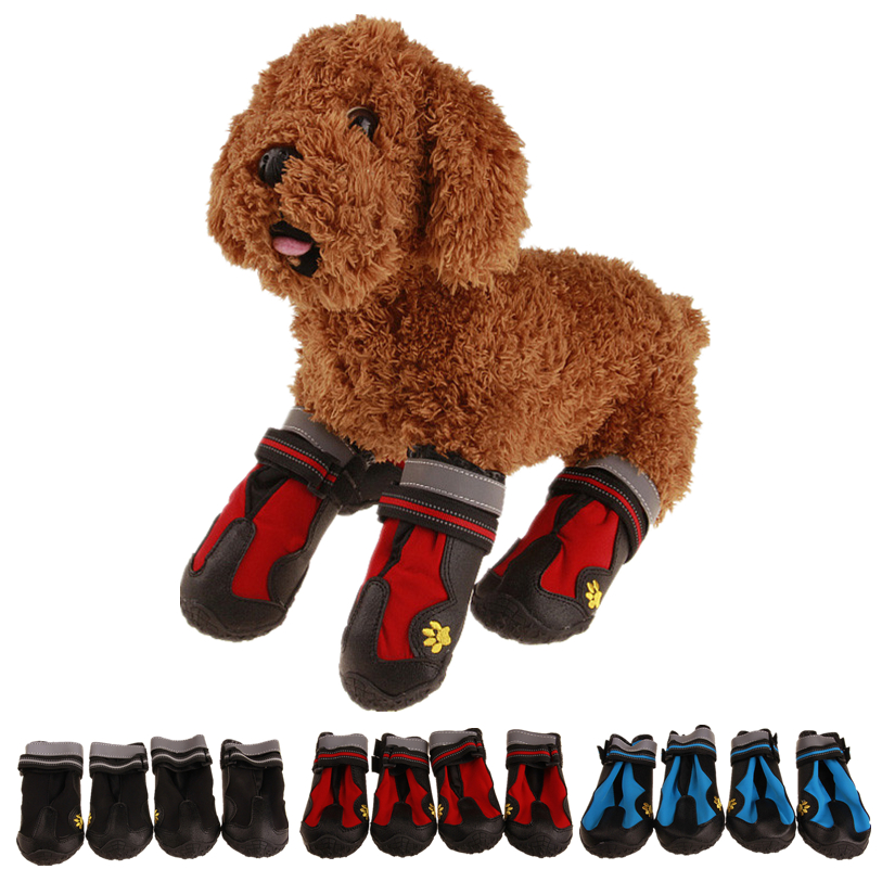 6 Sizes Sport Shoes for Dogs 4Pcs Set Waterproof Large Dog Boots Dog Rain Shoes Anti