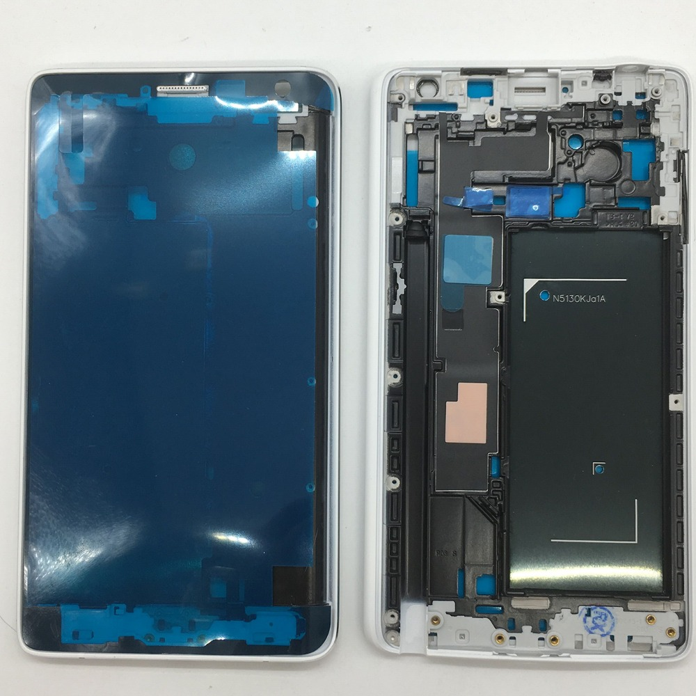 For Samsung Galaxy Note 4 Edge N915F N915G N915FY <font><b>N915</b></font> Original Smartphone <font><b>Case</b></font> Middle Frame Housing Chassis With Side Buttons image