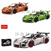 IN STOCK 2726PCS DECOOL 3368 Technic Series 911 GT3 RS White Green Orange Model Building Kits