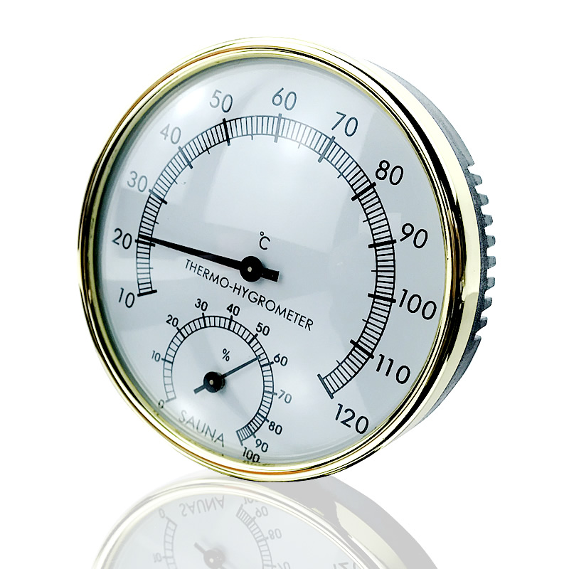 Dry Sauna and Steam Room Accessary Thermometer Hygrometer in Metering Moisture and TemperatureDry Sauna and Steam Room Accessary Thermometer Hygrometer in Metering Moisture and Temperature
