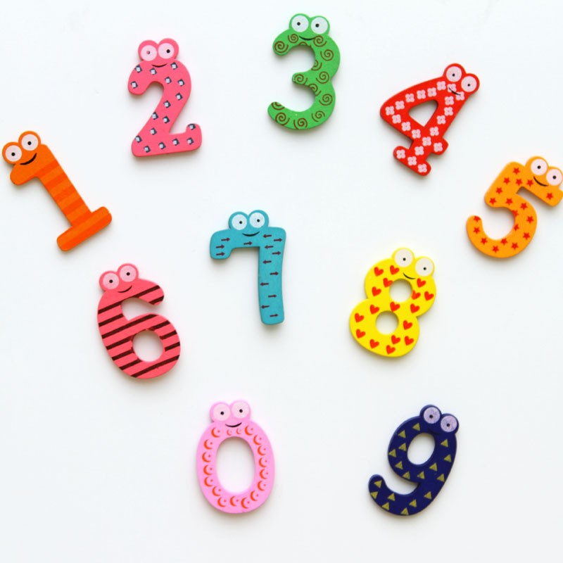 10 unids/set Digitales Imanes de Nevera Niños Educativos De Madera de juguete del bebé pegatina para el hogar Nevera Accesorios de Decoración