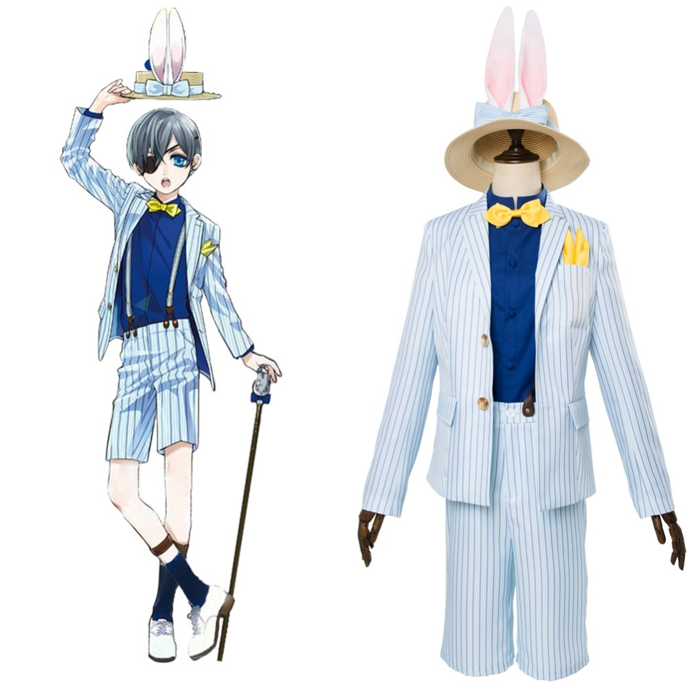 Cosplay Costume Black Butler/Kuroshitsuji Ciel Phantomhive Cosplay Costume Adult Men Halloween Carnival Costumes Whole Outfit