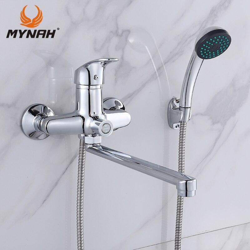 Майна Ванная комната кран Ванная комната для душа Ванна смеситель для ванны душ Системы холодной и горячей душ с смеситель Медь M22290