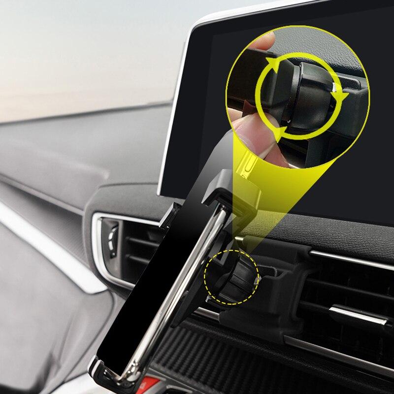 Celular Mobile Phone Holder Car Air Vent Mount Suporte Para Peugeot 3008/5008 2017 2018 2019 Acessórios Do Carro