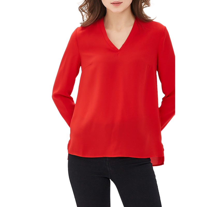 Blouses & Shirts MODIS M181W00408 woman blouse shirt blusas for female TmallFS plus collar knot blouses