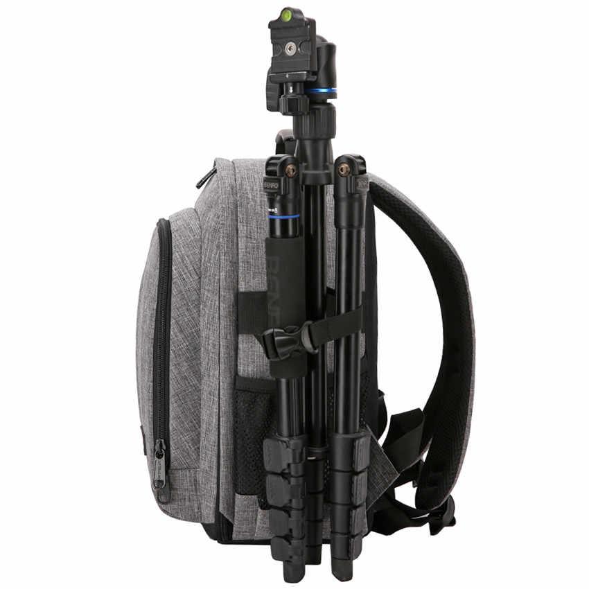 Mochila impermeable para cámara fotográfica, bolsa de trípode con relleno suave para hombro y vídeo, funda para hombre y mujer para Canon, Nikon, DSLR