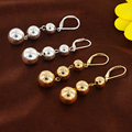 Women Ball Earring for Party New Item Fashion Design  Stud Earrings Gold color Silver color Bright  Love Earrings