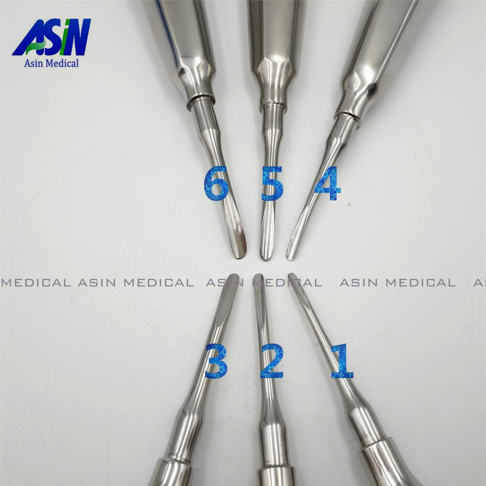 High Quality 6 pcs/ kit dental lab dentistry dentist dental detista equipment for teeth whitening curved root elevator 1pcs dental heated tip dental pen heated tip needles for endodontic root obturation endo systemteeth whitening