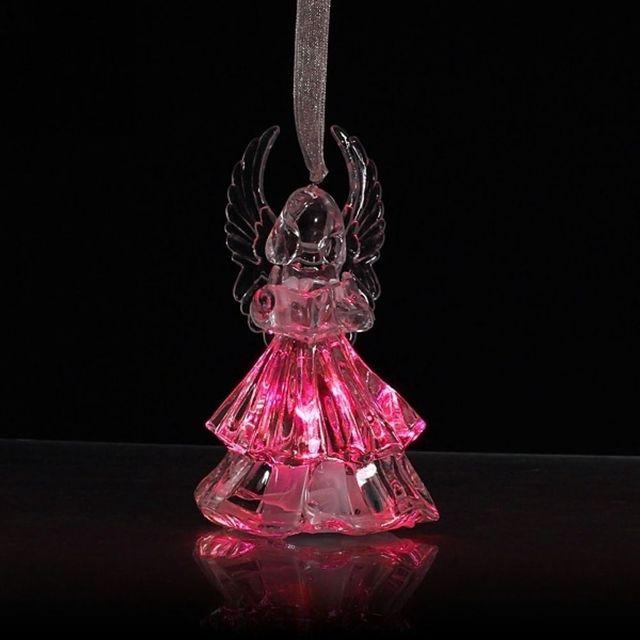 Details over 7 Kleuren Veranderende Acryl Crystal LED Kerst Engel ...