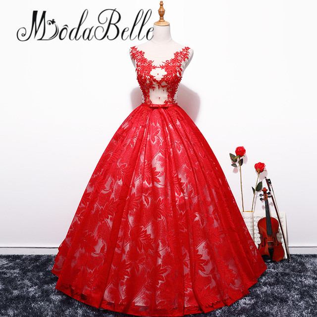 modabelle Abendkleid Echte Fotos Long Red Evening Dress Patterns ...