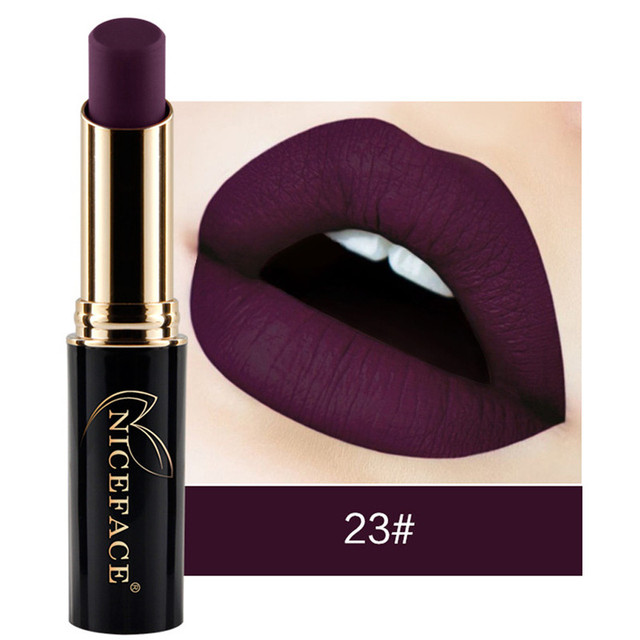 חדש הגעה שפתיים מט שמר מתכתי שפתון עמיד למים שפתון איפור פיגמנט גבוהה 24 גווני שפתון Rouge Levre