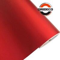 Película de vinilo metalizada para coche, decoración de 50cm x 100/150/200/300/500cm, color rojo brillante mate, con canales al aire libre