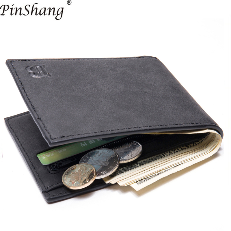 2018 Men Wallets With Coin Bag Zipper Small Money Purses Pu Leather Short Men Wallets High Quality Male Purse Money Clip Z30