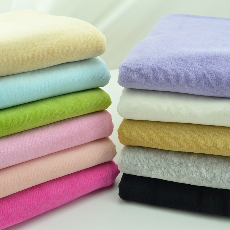 Stretchy Warm Velvet Cotton Knitted Fabric By Half Meter