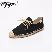 DZYM 2019 Spring Summer Classic Canvas Espadrilles High Quality Women Flats Leisure Sneakers Pure Hand-made Linen Shoes Zapatos