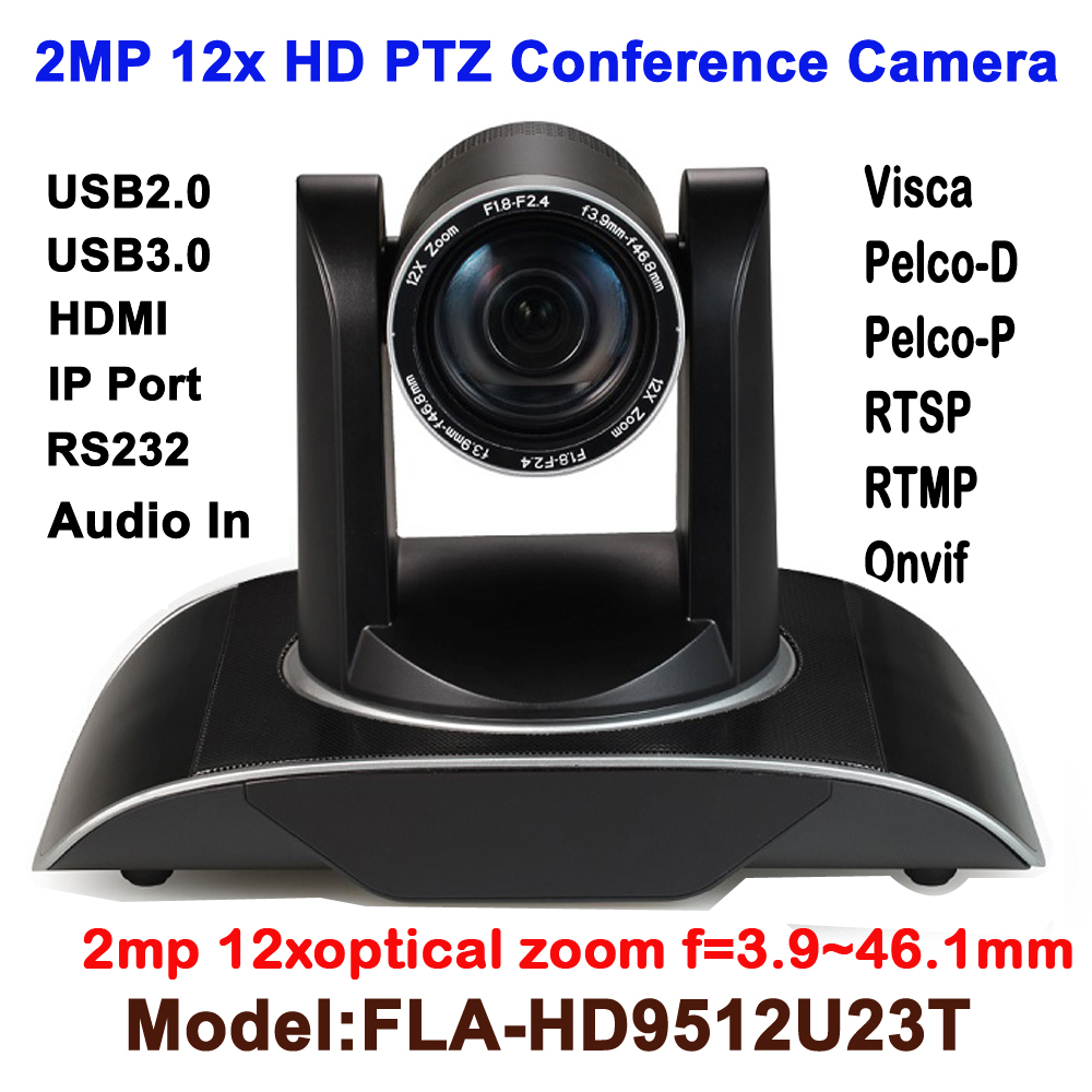 H.265 1080p 60fps 2MP Realtime 12X Zoom HD PTZ Video Conference Camera Onvif RTSP with USB2.0/USB3.0/HDMI/LAN IP/RS232 ikecix u12x 2m 12x zoom usb 1080p video conference camera microphone