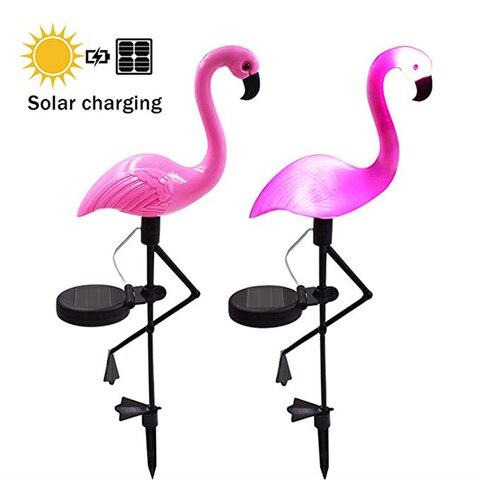flamingo parque movido a energia solar jardim luz pico chao luz ao ar livre a