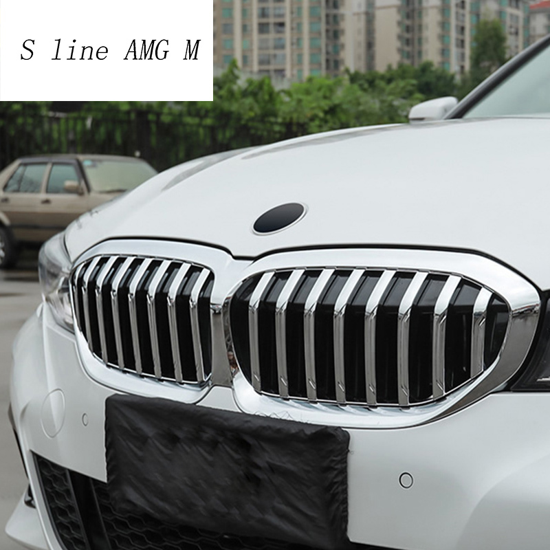 Car Styling Front Head Kidney Grill Grille Cover Clip decoration Sticker Trim Exterior For BMW 3 series G20 G28 Auto Accessories