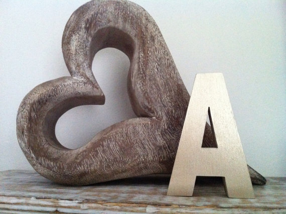 Freestanding Wooden Letter 1 35 Ariel Style Font