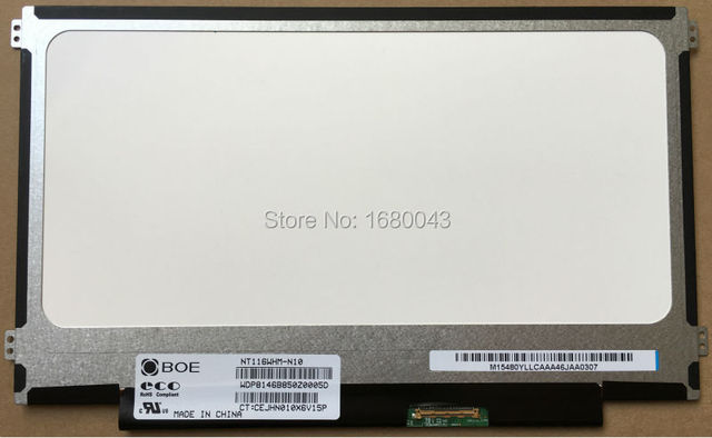 Envío gratis NT116WHM-N10 fit N116BGE-L41 / L42 / LB1 B116XW01 V.0 izquierda + derecha orificios de los tornillos 11.6 delgada 40 pin pantalla del ordenador portátil LED