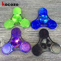 Fashion Three Angles Hand Spinner Purple Black EDC Toys For Children Adult Tri-spinners Kids Gifts Anti-stress Relief Focus Keep